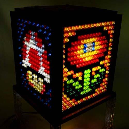 Make Your Own Mosaic LEGO Lamps