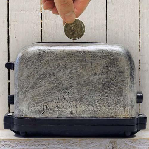 Retro Toaster Money Bank