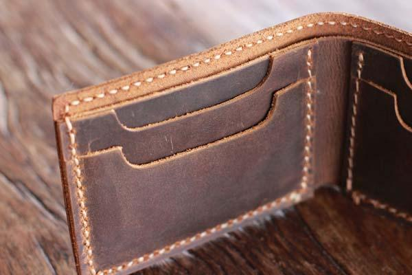 The Handmade Minimalist Bifold Leather Wallet