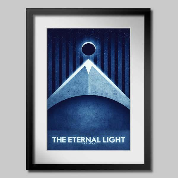 The Moon Travel Poster Set