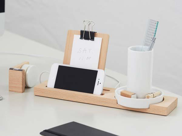 W+W Stationary + Tech Desk Organizer