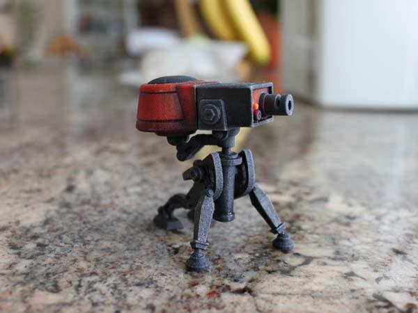3D Printed Team Fortress 2 Engineer Sentry Gun