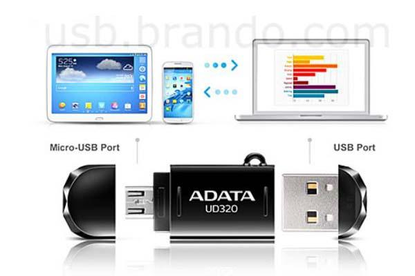 A-Data DashDrive UD320 OTG USB Flash Drive
