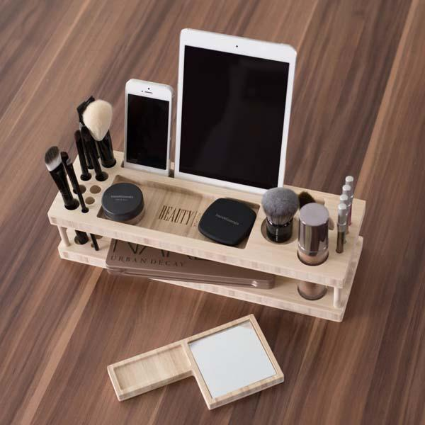 Beauty Station Makeup Organizer with Docking Station