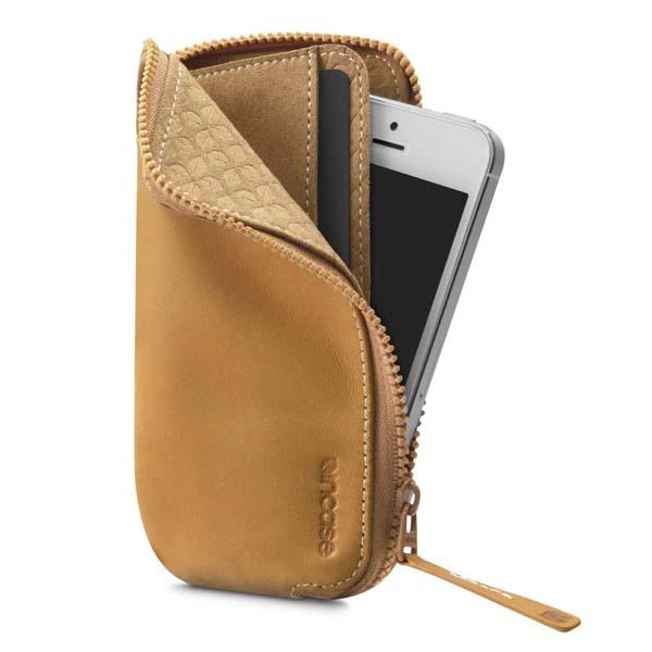 Incase Leather Zip Wallet iPhone Case