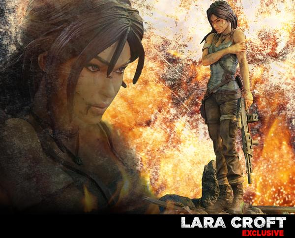 Lara Croft Survivor Collectible Statue