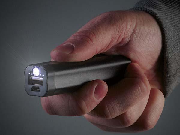 LumiVolt Backup Battery with Built-in Flashlight