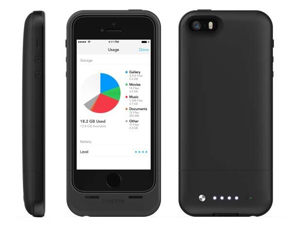 Mophie Space Pack iPhone 5 Battery Case with Extra Storage