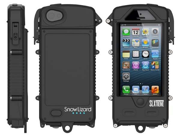 Snow Lizard SLXtreme 5 Waterproof iPhone 5s Case with Solar Charger