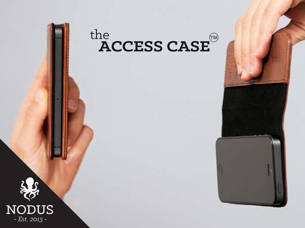The Access Leather iPhone 5s Case with Micro Suction Pad