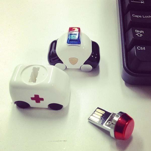 The Ambulance and Police Car USB Flash Drives