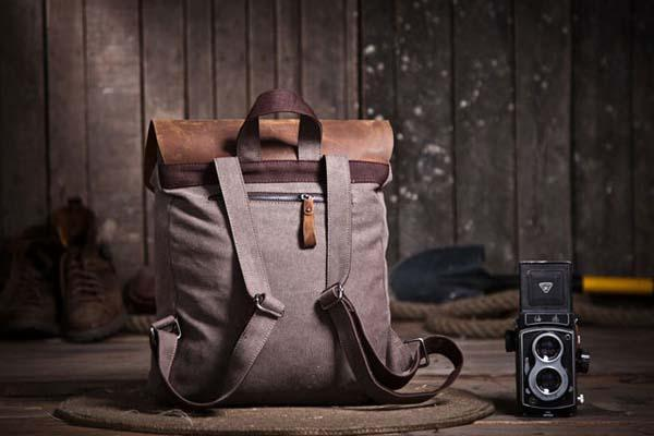 The Handmade Leather Canvas Fusion Backpack