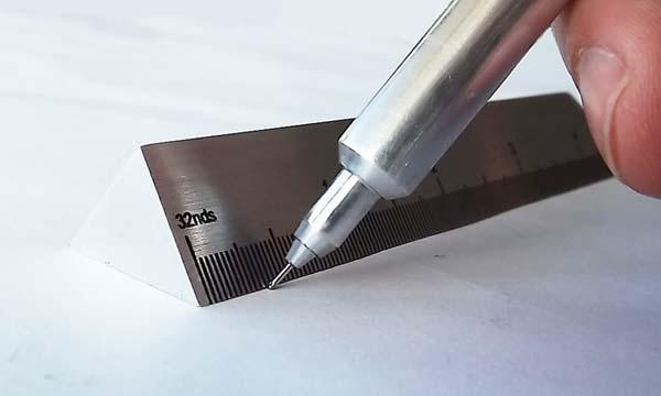 The Tech Force Pen with Ruler Sleeve