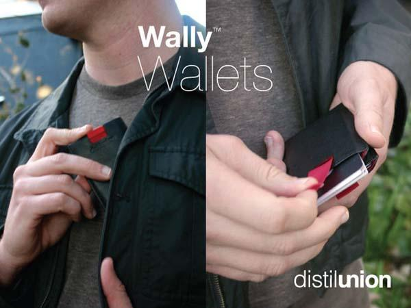Wally Bifold Minimal Pull-Tab Leather Wallet