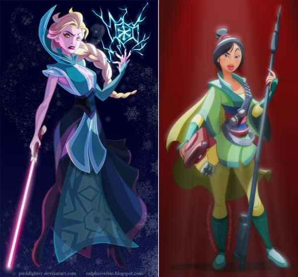 When Disney Princesses Meet Star Wars