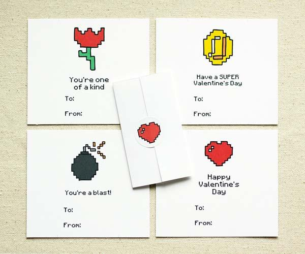 8Bit Gamer Valentine Cards
