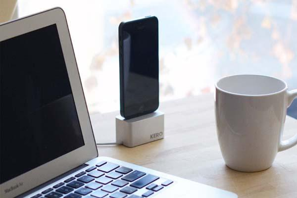 Kero Cable Weight Docking Station for iPhone 5/5s/5c
