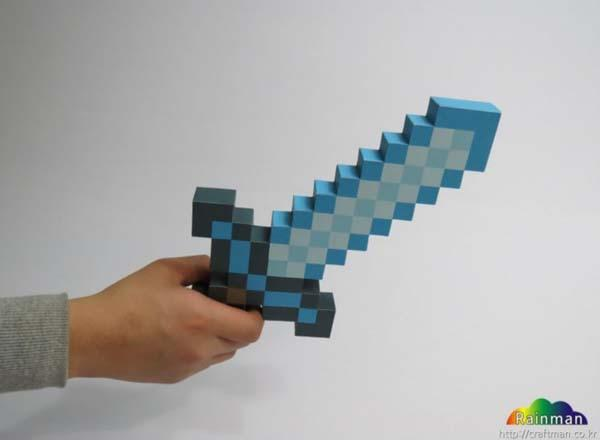 Make Your Own Minecraft Sword and Pickaxe Paper Craft