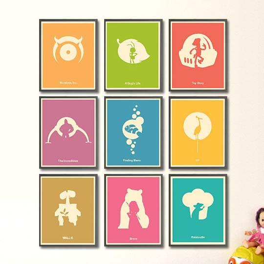 Pixar Film Inspired Poster Set