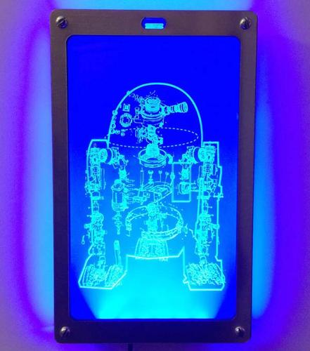 Star Wars R2-D2 and C-3PO Schematic LED Art