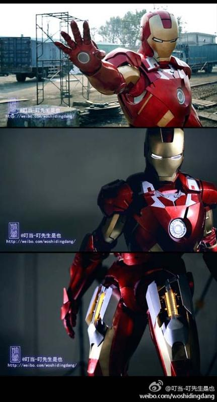The Awesome Iron Man Mark VII Armor Suit with Mechanical Parts