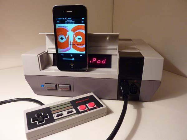 The Handmade NES iPhone Dock Speaker