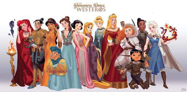When Disney Princesses Meet Game of Thrones