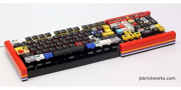 A Fully Functional Computer Keyboard Built with LEGO Bricks