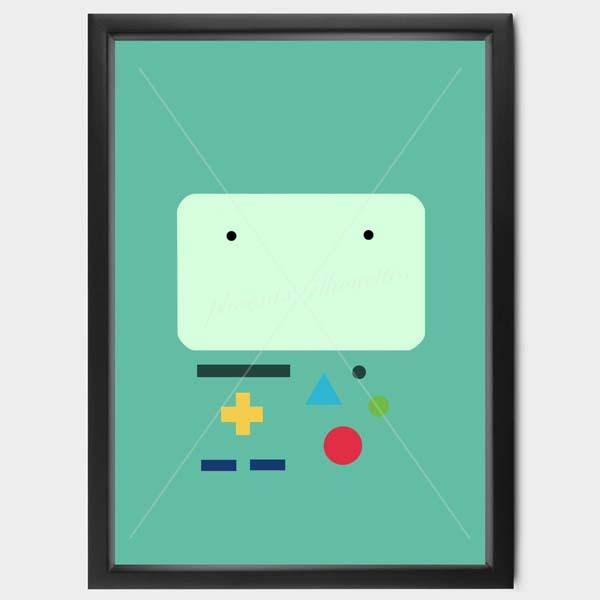 Adventure Time Minimalistic Poster Set