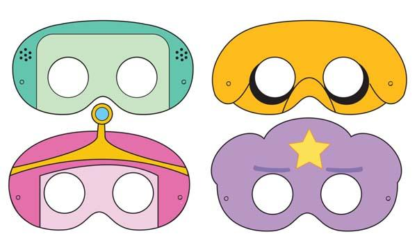 Adventure Time Themed Printable Masks