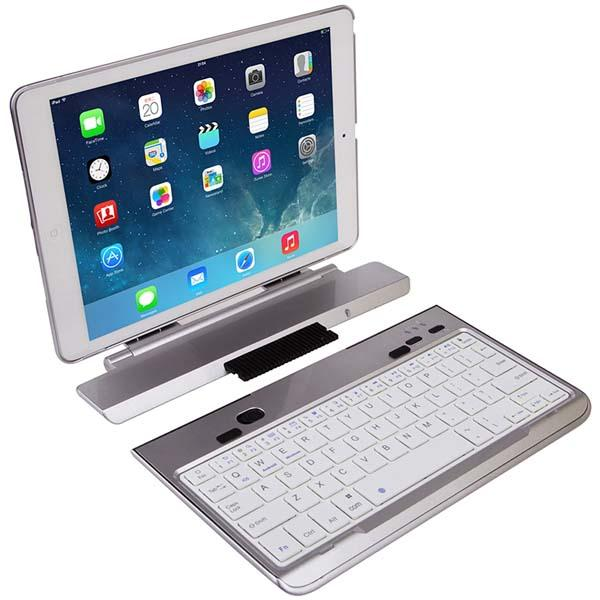 FAVI Swivel Screen Portfolio Keyboard Case for iPad Air