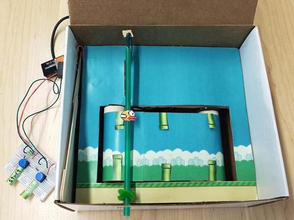 Flappy Bird Cardboard Box Version