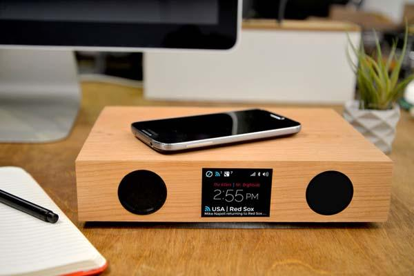 Glowdeck Bluetooth Speaker with Wireless Charger, Notification Platform and LED Light System