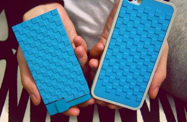 Lepow Pixels iPhone 5s Case with Removable Backup Battery
