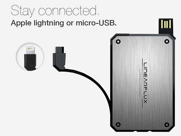 LithiumCard High Speed Portable Charger