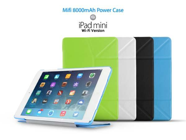 Mifi Power iPad Mini Case with 8000mAh Backup Battery and 3G Capability