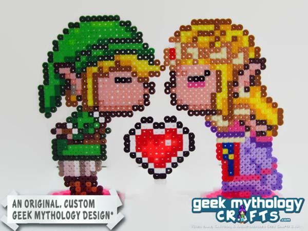 The 8-Bit Retro Game Inspired Wedding Cake Toppers
