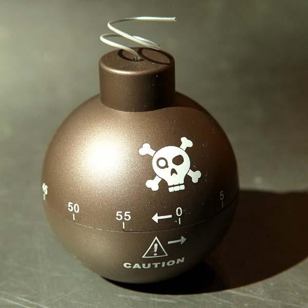 The Bomb Shaped Kitchen Timer