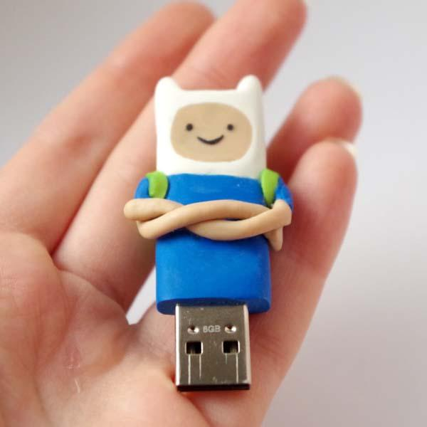 The Handmade Adventure Time Inspired USB Flash Drives