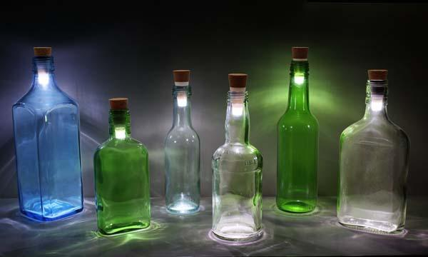 The Rechargeable Bottle Light Turns Your Bottle into a Lamp