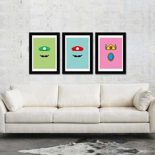 The Super Mario Inspired 8-Bit Posters