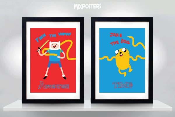 Adventure Time Cartoon Double Poster Set