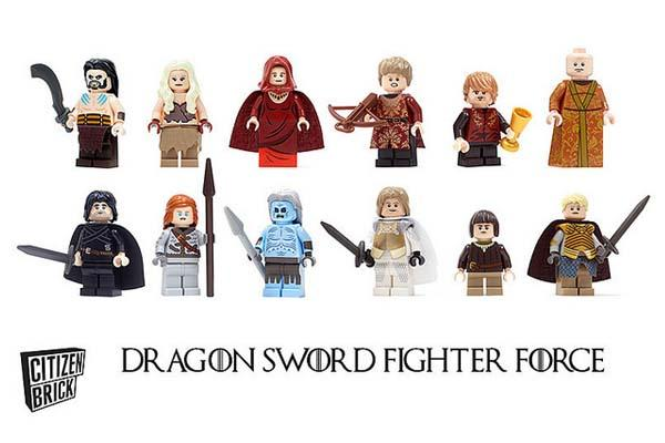Game of Thrones Dragon Sword Fighter Force LEGO Minifigure Series