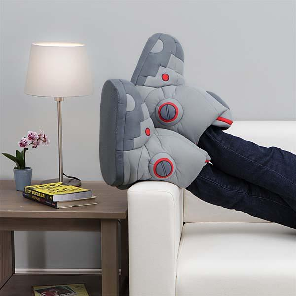 Giant Robot Slippers with Realistic Sound
