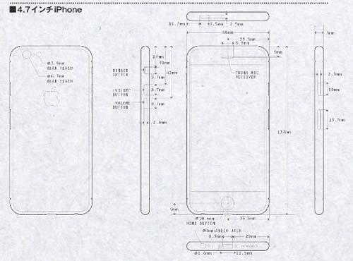 Leaked Schematics Based iPhone 6 Renderings