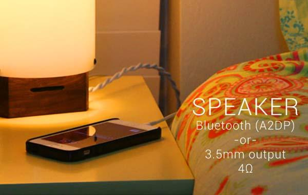 Luma Smart Lamp with Bluetooth Speaker and USB Charger