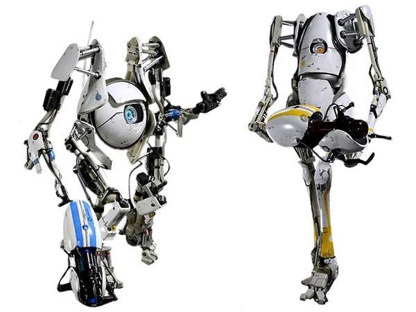 Portal 2 Atlas & P-Body Action Figures