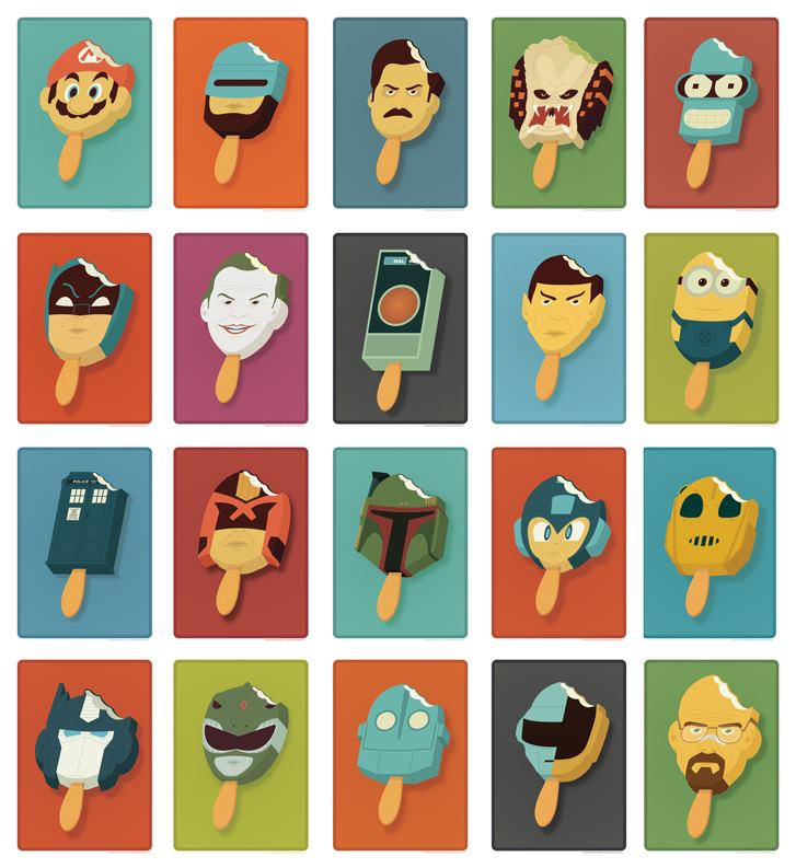 The Amazing Pop Culture Popsicles by Andrew Heath