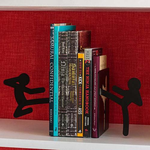 The Fighting Stickmen Bookends