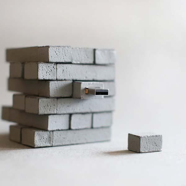 The Handmade Concrete USB Flash Drive